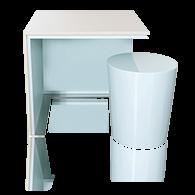 Mesa lateral CLOÉ com stool